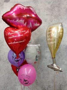 Воздушные шары на день рождения женщине купить, заказать в Череповце