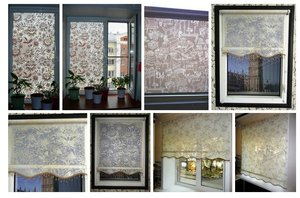 Рулонные шторы из витражных тканей. Фото наших работ.