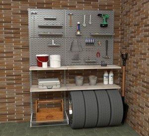 Металлические стеллажи для мастерской
