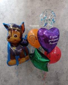 Воздушные шары с персонажами мультфильма Щенячий патруль