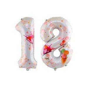Фольгированные шары фигуры цифры купить заказать в Череповце