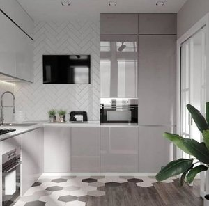 Простые правила ухода за глянцевой кухней