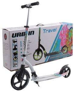 АКЦИЯ!!! Самокат двухколёсный Slider URBAN Travel белый цена по акции-3 990 ₽- цена розничная-5 590 ₽ -скидка 29%
