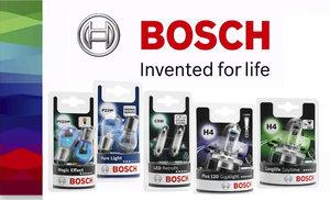 Новая упаковка автомобильных ламп BOSCH
