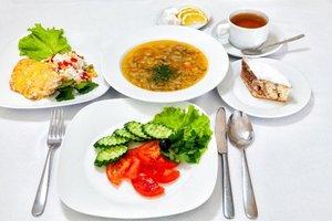 Комплексный обедв ресторане