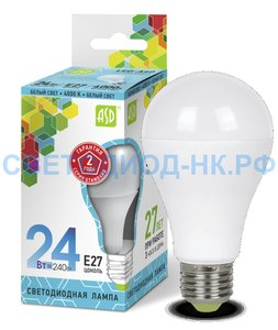 НОВИНКА!!! Светодиодная лампа LED-A65-standard 24Вт.