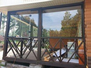 Остекление дачной веранды стеклом закаленным 10мм