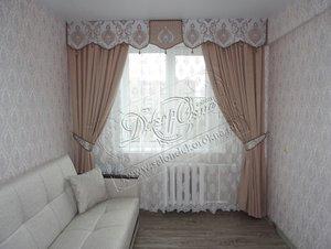 Оформление окна шторами от компании «Декор Окна»