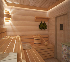 Внутренняя отделка бани от компании «Новостройлес»