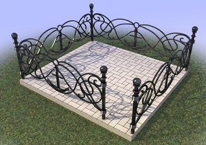 Изготовим металлические ограды по вашим размерам на заказ