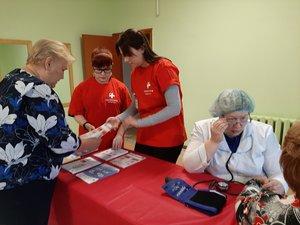 Волонтеры- медики приняли участие в мероприятии «Сход сельских женщин»!