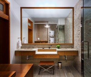 Как повесить зеркало в ванную