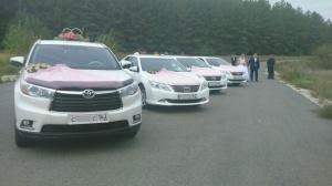 Новые модели автомобилей Тойота на свадьбу и торжество.