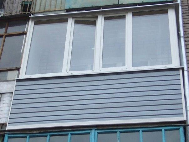 Пласт окно на балкон наружная отделка фото..