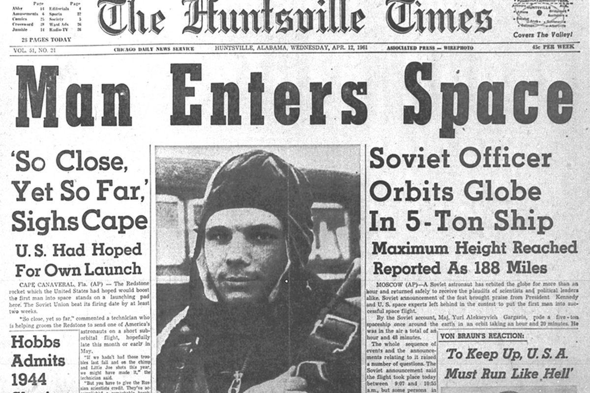 Текст о Гагарине на английском