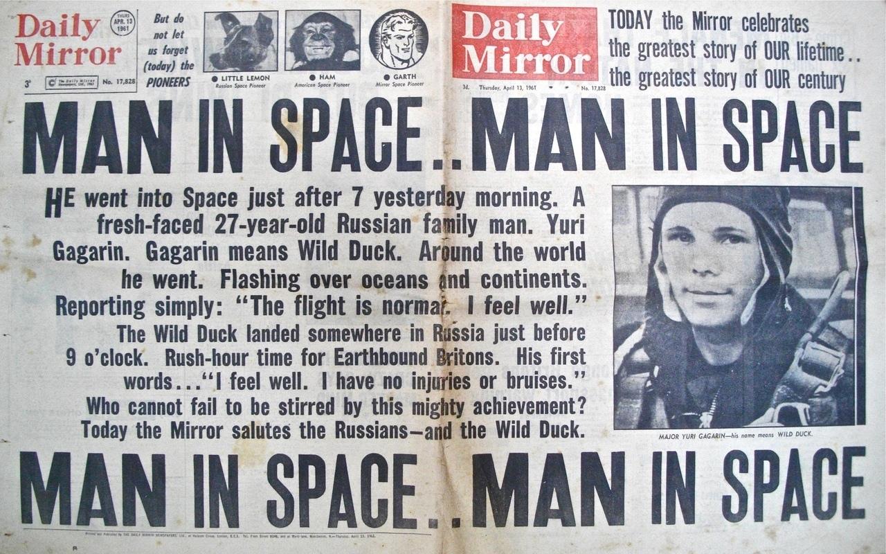 День Космонавтики (текст на английском)