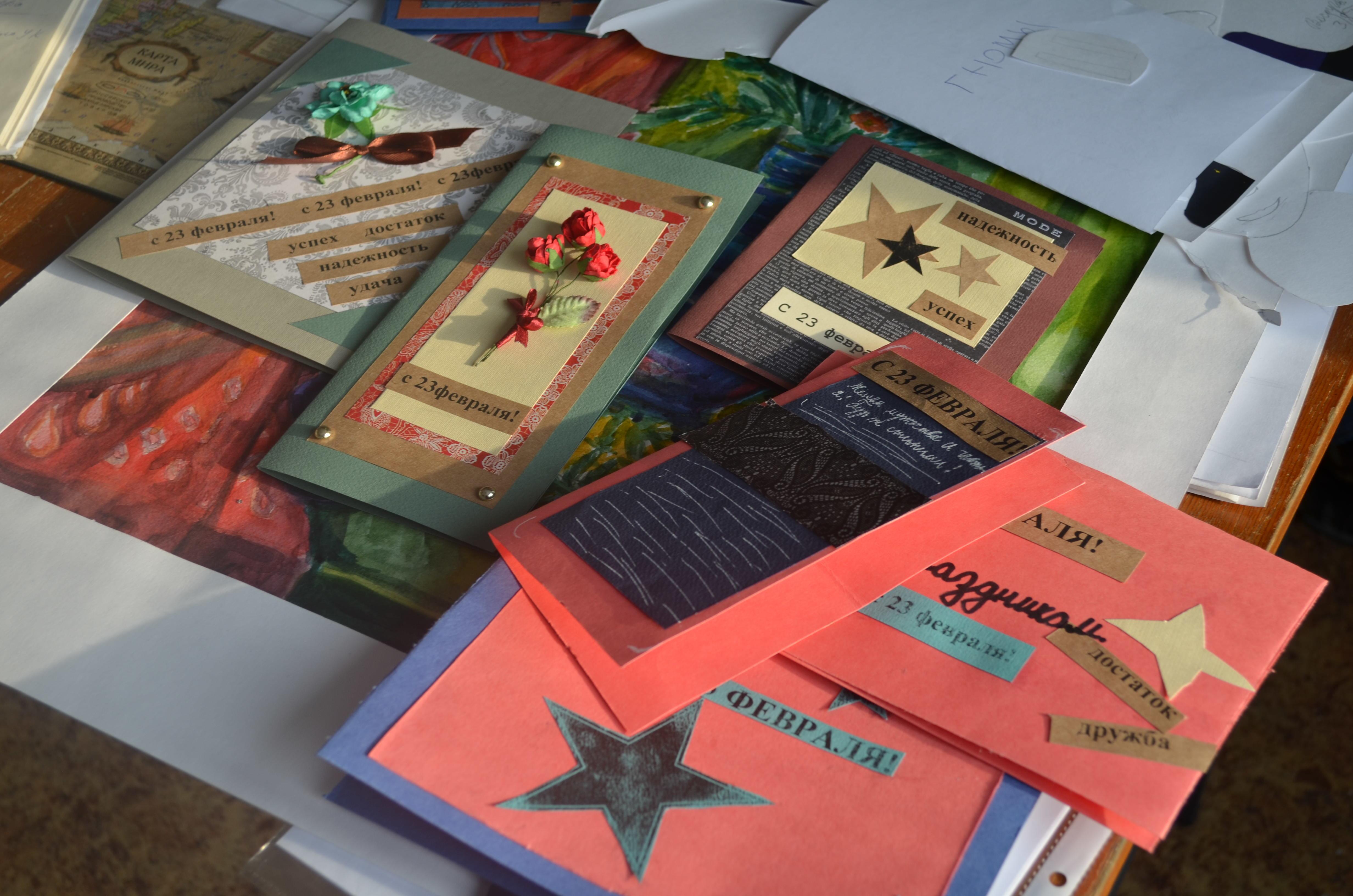 так день защитников отечества изготовление открыток шесть лет