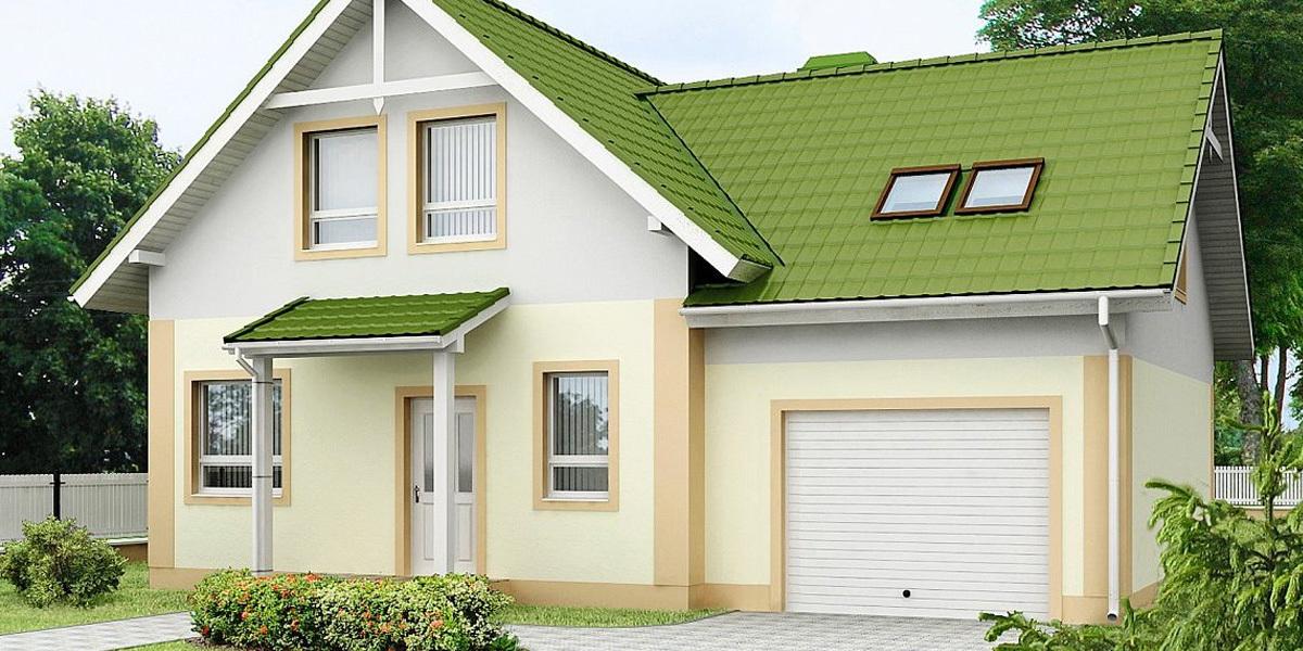 пример Дома с гаражем2