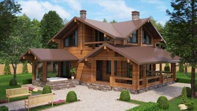 Дом из бруса 'Эстет'