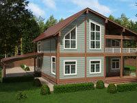 дом из клеевого бруса