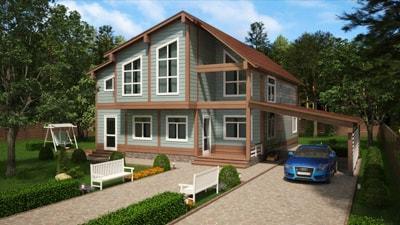 Дом из бруса 'Фортуна'