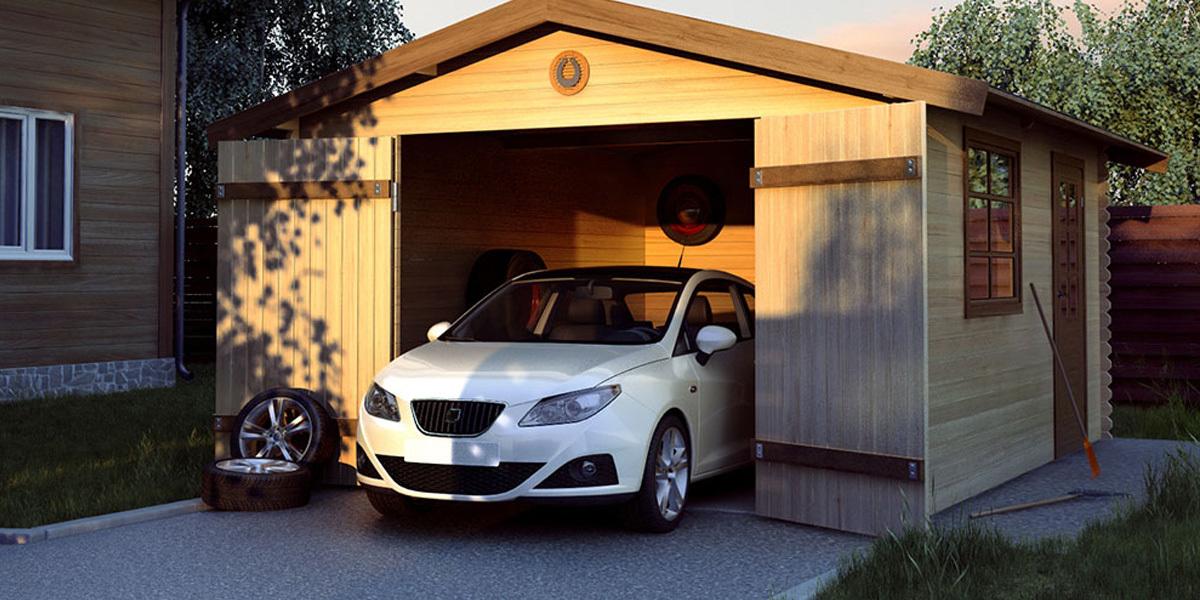 пример Каркасного гаража2