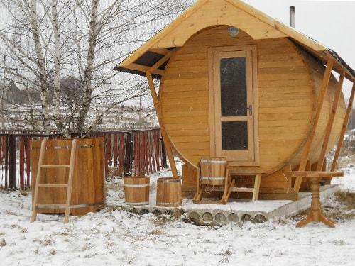Строительство мини-бани под ключ в Красноярске