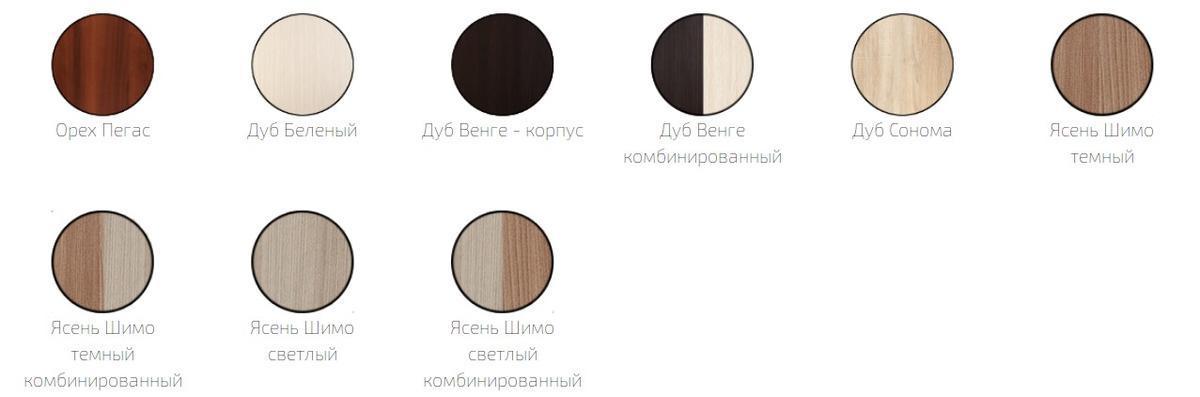 Доступные цвета для прихожей Фиеста-15
