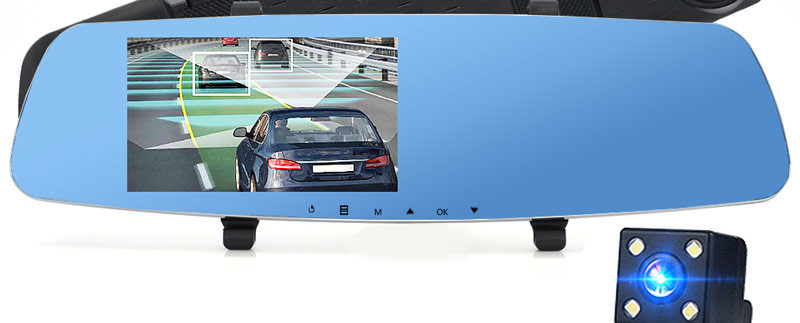 Автодикс Зеркало Регистратор 2 камеры