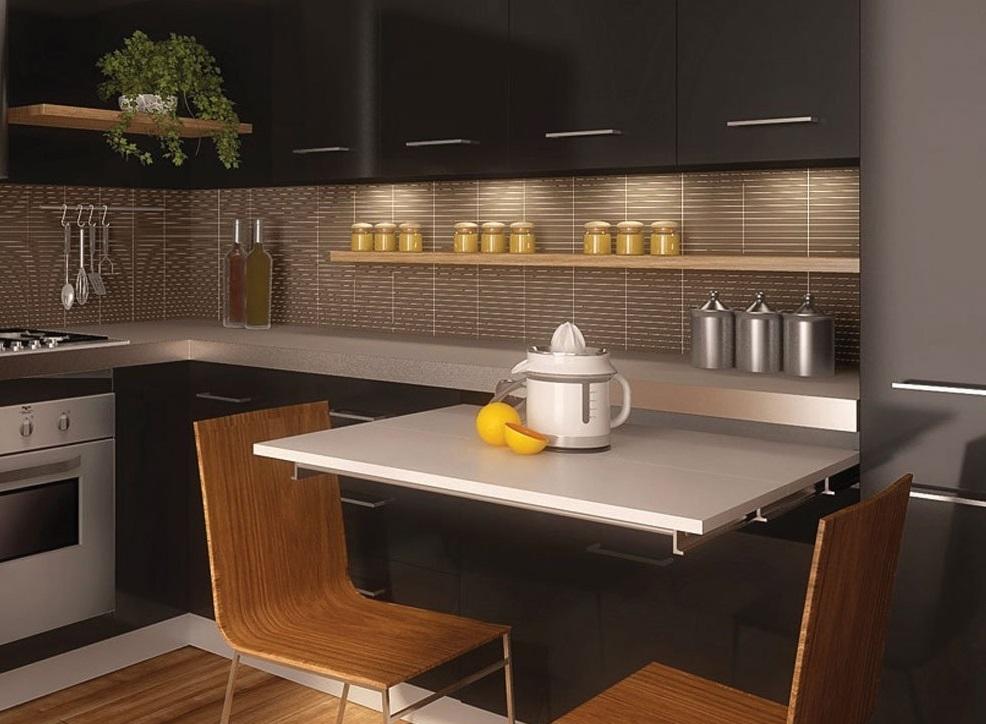 эффектное решение для маленьких кухонь