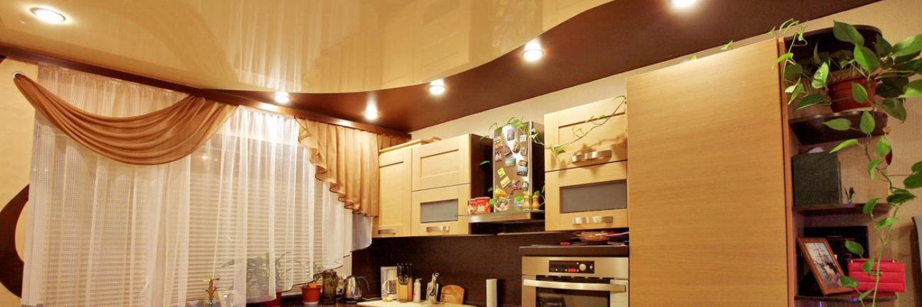 В кухню натяжные потолки