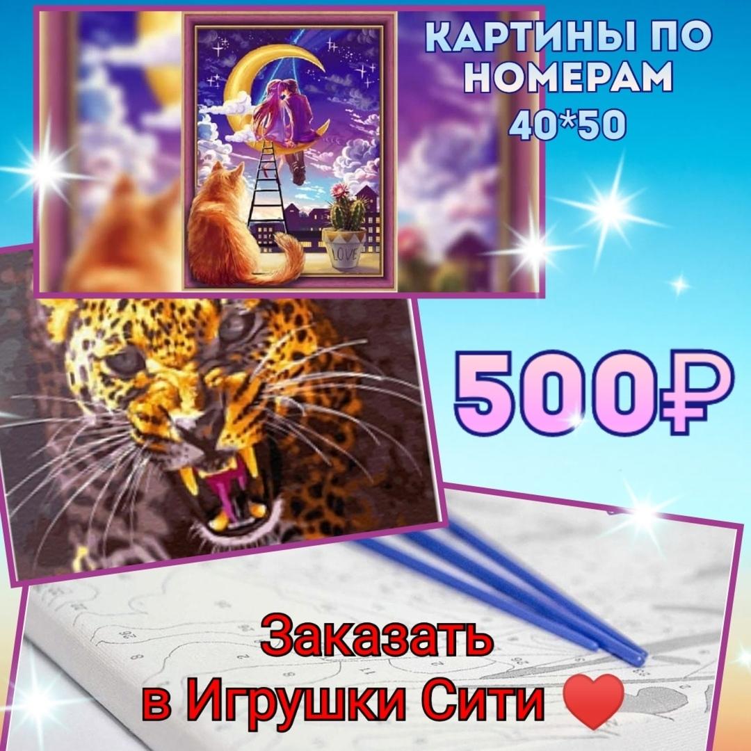 Картины по номерам в Череповце. В наличии и на заказ. Новинки и полюбившиеся сюжеты. Цена 500 руб. Посмотреть в Игрушки Сити.