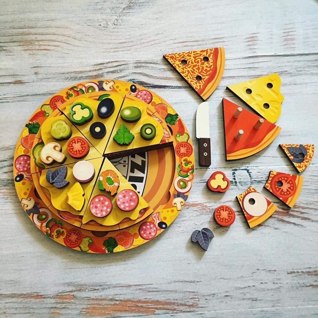 игрушки сити пицца деревянная купить в череповце